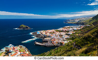 panoramic view of a cozy Garachico town