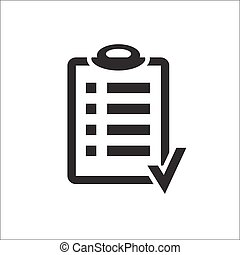 Action plan clipboard icon design over a white background...