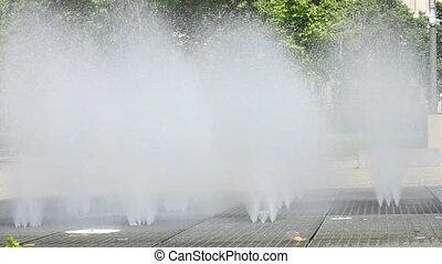 Rollerskating and Water Fountain - Rollerskater training...