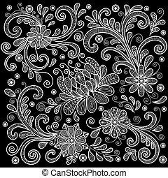 Teppich gezeichnet  Vektor Illustration von gekritzel, abstrakt, hand, hintergrund ...