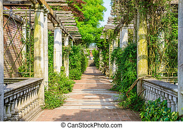 Hampstead Pergola and Hill Garden - London, UK - June 9,...