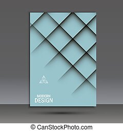 Vector brochure design layout template. Cover background