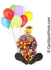 Clown with Big Feet and Balloons