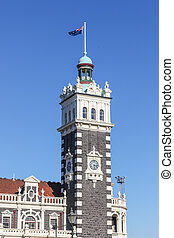 Dunedin Train Station Clocktower - The clocktower of Dunedin...