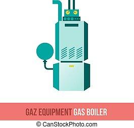 vector flat icon gas boiler. - Vector flat icon gas...