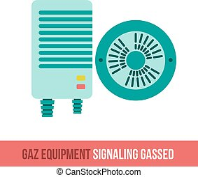 vector flat icon signaling gassed - Vector flat icon gas...