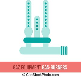 vector flat icon gas burners - Vector flat icon gas...