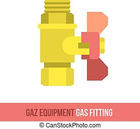 vector flat icon gas fitting - Vector flat icon gas...