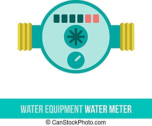 vector flat icon water meter - Vector flat icon water...
