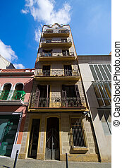 Typical tenement house of Barcelona, Spain - Typical...