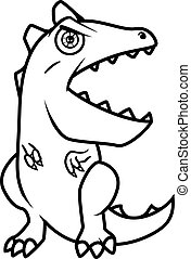 Monster alphabet coloring pages: letter E
