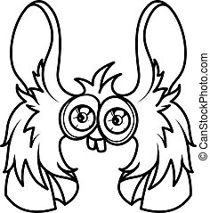 Monster alphabet coloring pages: letter H