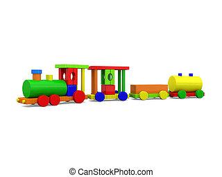 brinquedo, trem