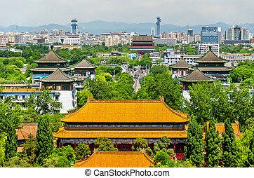 View of Shouhuang Palace in Jingshan Park - Beijing, China