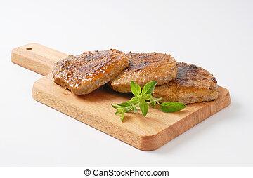 herb rubbed pork chops - roasted herb rubbed boneless pork...