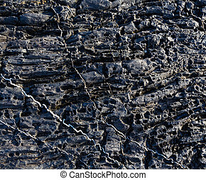 Part of rock close up. - Part of rock closeup with white...