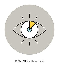 Vision concept line icon Eye vector symbol