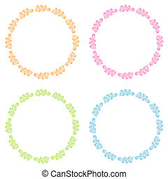 Floral Frame Collection. Set of cute retro flowers frames.