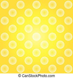 Yellow circles abstract pattern background