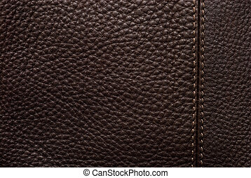 Natural qualitative brown leather