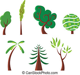 Trees - Stylized trees set