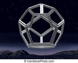 Impossible dodecahedron - Original illustration of an...