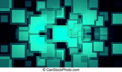 Motion background with animated squares. Seamless loop. Full...