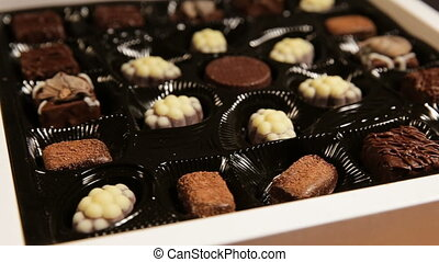 Chocolate candies collection. - Delicious chocolate candies...
