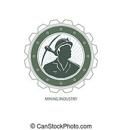 Mining Industry, Design Element - Mining Industry, Logo...