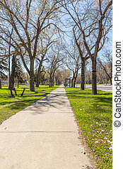 Downtown Regina - An empty pedestrian walkway in Downtown...
