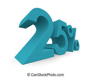 Twenty-five percent 3d rendering - Twenty-five percent in...