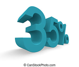 Thirty five percent 3d rendering - Thirty five percent in...