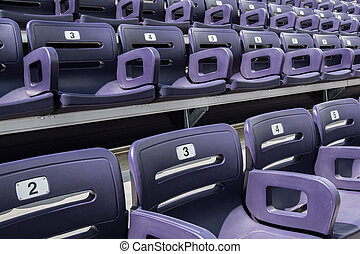 Purple Stadium Seats Close Up