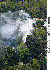 smoke in a settlement - in a settlement section residues are...