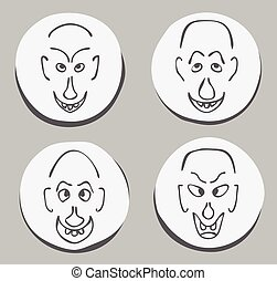 ugly funny face set