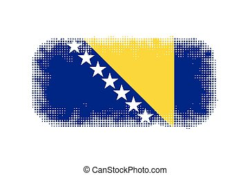 Bosnia Herzegovina flag symbol halftone vector background...