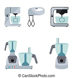 Food processor set on a white background