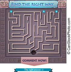 find the right way Greece 2 - Visual Game for children....