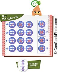 Find the right way button 2 - Visual Game for children Task:...