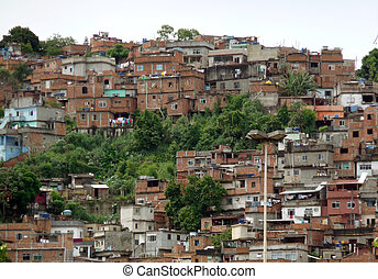 Brazilian Slum - Poor houses in some brazilian slum suburbia