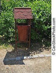 Rubbish bin on the park - Rubbish bin on the public park...