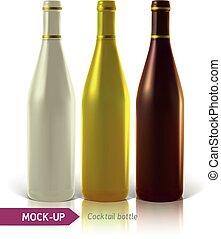 set of cocktail bottles