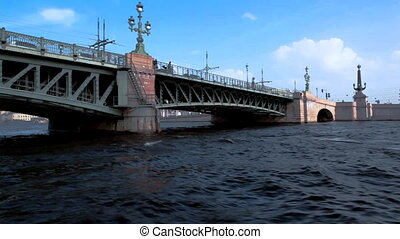 Glide under bridge, St. Petersburg