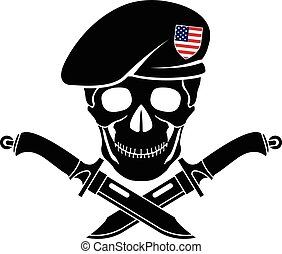 sign of special forces of USA. vector illustration
