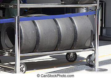 Wheels of racing car Formula 1 - Wheels racing a Formula 1...