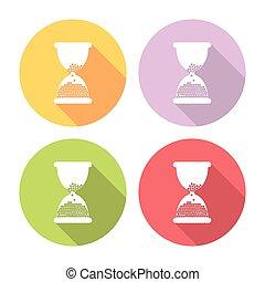Hourglass Flat Icons Set
