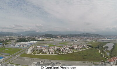 Aerial view of Sochi, Adler.