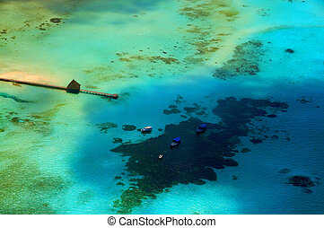 Maldives view from seaplane