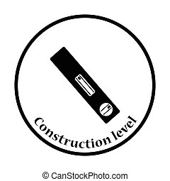 Icon of construction level Thin circle design Vector...