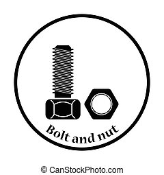 Icon of bolt and nut